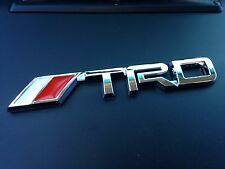 TRD Chrome 3D Vehicle Emblem Decal Sticker Toyota Tundra Tacoma FJ Cruiser