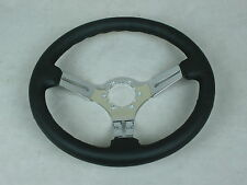 1968-1975 1977-1982 C3 Corvette Steering Wheel Black Leather Rim-3 Chrome Spokes