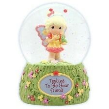 Precious Moments Girl with Caterpillar Musical Snow Globe - Beautiful Dreamer