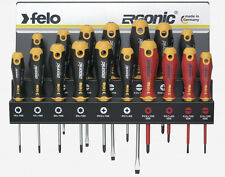 Felo 61391 Ergonic 17 piece Screwdriver Set w/Steel Rack/61391