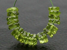 AAA Natural Green Peridot Faceted Rondelle Wheel Gemstone Beads (1085)