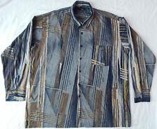 Geometric Psychedelic Striped Long Sleeve Casual Shirt - Mens Large L Vtg USA