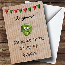 Funny Sprouts Are For Life Personalised Christmas Card