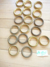 French ormolu curtain rings  55mm diam in the Rococo style and dating 1880s  16