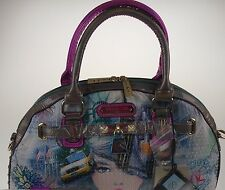 Nicole Lee New York Print Satchel Bag Statue Liberty  Handbag buy 2 get 1 free