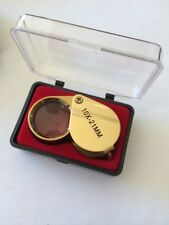 New Jewelers Loupe 10x21mm Jewelers Gold Loupe Magnifier Magnifying Glass Pocket