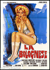 LA BOLOGNESE MANIFESTO CINEMA FILM EROTICO SEXY ART AVELLI 1975 MOVIE POSTER 2F