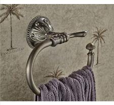 Antique Bronze Flower Wall Mounted Bathroom Towel Ring Hotel Towel Rack Holder