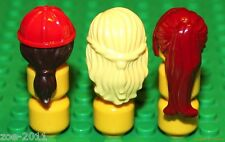Lego 3x Ladies Girl Female Hair  NEW!!!