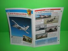 LET L-410 TURBOLET/610  AIRCRAFT FACTS CARD AIRPLANE BOOK 102