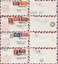 PORTUGAL 1941 FIRST FLIGHTS to GUINEA + PUERTO RICO + TRINIDAD..4 COVERS..PAN AM