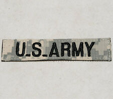 US ARMY DIGITAL ACU TAPE  EMBROIDERY CHEST PATCH -32410