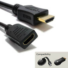 Google Chromecast TV HDMI 1m Male to Female Extender Extension Wire Lead Cable