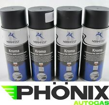 4x Normfest Kroma 400ml schwarz matt RAL 9005 Lack-Spray