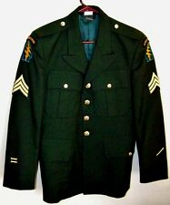 US ARMY DRESS GREEN UNIFORM COAT - SPECIAL FORCES - 38XS - DATED 2005