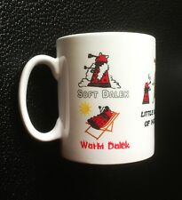 Soft Kitty Inspired Dr. Who New Design Red Dalek Mug
