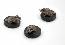Summoned Badger set - RPG Gaming miniature for D&D Warhammer or horror
