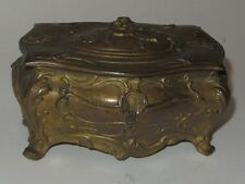 ANCIENNE BOITE A BIJOUX EN REGULE JEWELLERY ANTIQUE SPELTER JEWELRY BOX