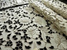 NWT Antique MADEIRA Cutwork Hand Embroidery 17 pc Placemats Napkin Runner UNUSED