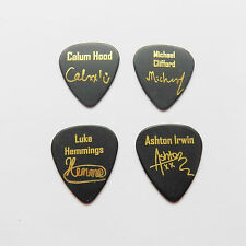 5 SECONDS OF SUMMER 5SOS 4X autograph stamped gold print plectrum guitar picks