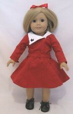 """Doll Clothes AG 18"""" Kits Holiday Dress Red Made To Fit American Girl Dolls"""