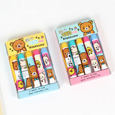 5pcs/set Cute Rilakkuma Clip Type Pencil Cap Cover Topper Extender Kawaii San-x