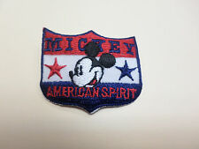 Disney Mickey Mouse Patriotic Americana American Spirit Applique Iron On Patch
