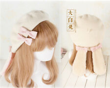 Japanese Sweet Lolita Kawaii Bunny Ears Handmade beret Painter Cap Princess#AC-7