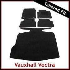 VAUXHALL VECTRA C 2002-2008 Tailored Carpet Car and Boot Mats BLACK