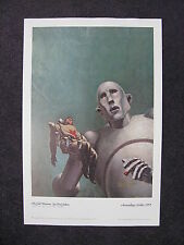 KELLY FREAS SIGNED PRINT ROBOT GULF BETWEEN QUEEN NEWS OF THE WORLD ALBUM COVER