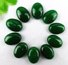 10pcs Beautiful unique green jade oval cab cabochon BA799