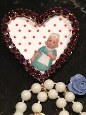 Les Nereides Baby Doll heart photo frame with afternoon tea brooch mix pin New