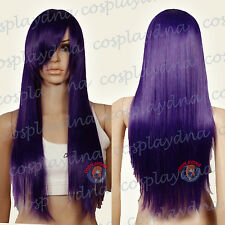 28 inch Hi_Temp Series Dark Purple Long Cosplay DNA Wigs 763737