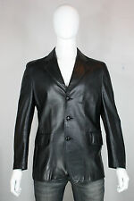 Schott leather jacket 42 blazer mint black vintage made in usa 3 button