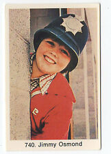 1970s Swedish Pop Star Card  #704 US Osmonds Singer Little Jimmy Osmond