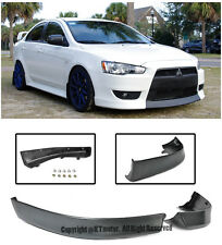 Rally Style Front Lower Bumper Air Dam Lip Spoiler For 08-15 Mitsubishi Lancer