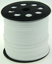 wholesale 10yd 3mm white Suede Leather String Jewelry Making Thread Cords