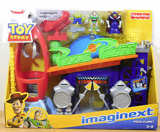 Pizza Planet Toy Story Imaginext With Figures Zurg Alien Buzz Retired NEW