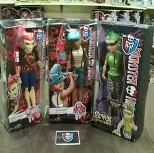 Monster High lot of 3 Boys Heath Ghouls Fair, Clawd Scarnival, and Deuce Scaris