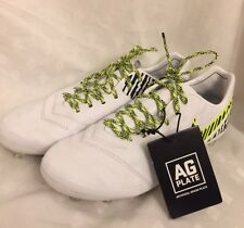 NIKE TIEMPO LEGEND VI AG iD SOCCER CLEATS 840388 994 MENS 8 WHITE iD SAMPLE $250