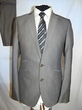 TED BAKER -ENDURANCE DESIGNER SMART SLIM BUSINESS/WORK SUIT UK 38R EU 48R