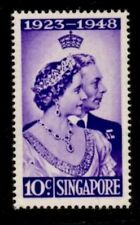Singapore stamps -1948 Silver Wedding low value 10c mounted mint Queen Elizabeth