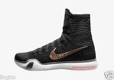 NIKE KOBE X ELITE ROSE GOLD sz 10 Black Flyknit Shoes 718763 091 Kobe Bryant