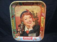 VINTAGE COCA-COLA METAL TRAY THIRST KNOWS NO SEASON HAVE A COKE 1950s
