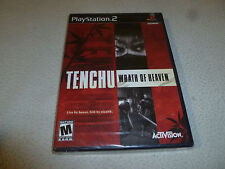 FACTORY SEALED BRAND NEW PLAYSTATION 2 PS2 TENCHU WRATH OF HEAVEN GAME RARE NFS