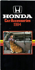 HONDA ACCESSORI 1984 UK MARKET FOLDOUT opuscolo JAZZ CIVIC assistenza clienti SHUTTLE ACCORD