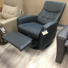 Fjords Oslo Swing Relaxer Power Electric Recliner Chair NL 101 Black Leather