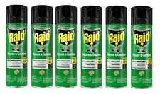 6 RAID Bug Spray House & Garden 01672 11 oz. Roaches Flies Spiders Insect Killer