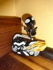 Black Spiderman Street Bike Motorcyle Action Figure 2009 Marvel 2""