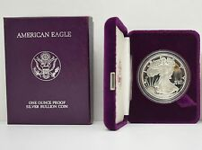 1986-S AMERICAN EAGLE ONE OUNCE SILVER BULLION COIN PROOF WITH BOX AND COA